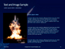 Space Rocket with Flames Presentation slide 15