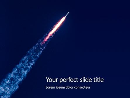 Space Rocket with Flames Presentation Presentation Template, Master Slide