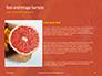 Two Sliced Citrus Fruits Presentation slide 15