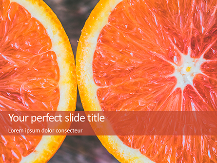Two Sliced Citrus Fruits Presentation Presentation Template, Master Slide