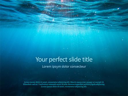 Underwater Lights Presentation Presentation Template, Master Slide