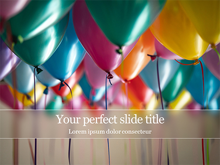 Assorted-Color Balloons Presentation Presentation Template, Master Slide