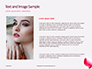Closeup of Beautiful Woman Lips with Red Lipstick Presentation slide 15