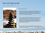 Folded Pyramid of Smooth Stones on the Seashore Presentation slide 15