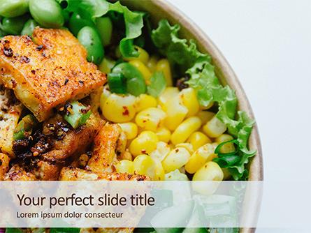 Grill Tofu and Veggies Dish Presentation Presentation Template, Master Slide