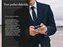 A Businessman Holding Phone Presentation slide 9