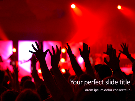 People Raises Hands Presentation Presentation Template, Master Slide