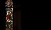 Window Painting in Church Presentation Presentation Template