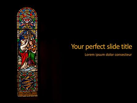 Window Painting in Church Presentation Presentation Template, Master Slide