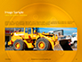 Closeup Photo of Yellow Vehicle Wheel with Tire Presentation slide 11
