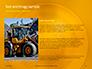Closeup Photo of Yellow Vehicle Wheel with Tire Presentation slide 16