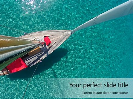 Sailboat From Above Presentation Presentation Template, Master Slide