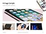 Smartphone on White Desk Presentation slide 13