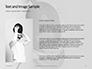 Fencer Girl Holding a Fencing Mask Presentation slide 15