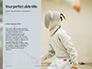 Fencer Girl Holding a Fencing Mask Presentation slide 9