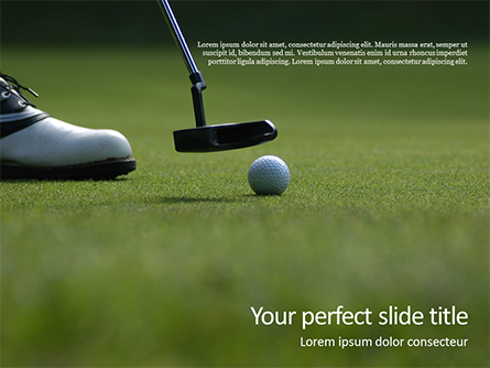 Golfing Holidays Presentation Presentation Template, Master Slide