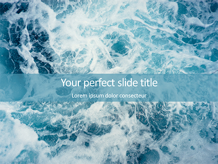Ocean Foam Presentation Presentation Template, Master Slide