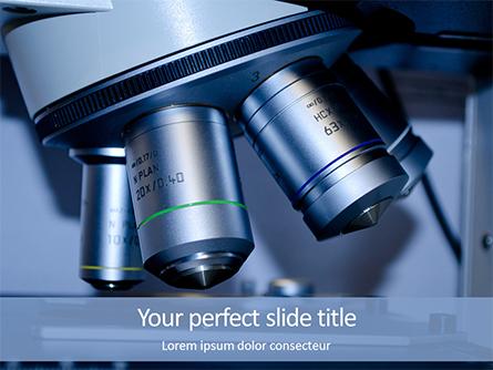 Microscope Slide Research Presentation Presentation Template, Master Slide