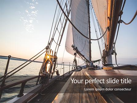 Sailboat Deck on Sunset Presentation Presentation Template, Master Slide