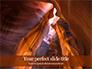Swirling Sandstone Ravine Presentation slide 1