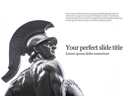 Trojan Warrior Statue Presentation Presentation Template, Master Slide