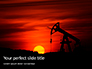Oilfield Silhouette on Sunset Presentation slide 1