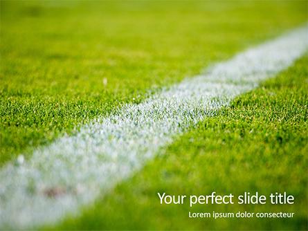 Green Field for Sport Games Presentation Presentation Template, Master Slide