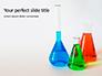 Three Assorted-Color Liquid-Filled Laboratory Apparatuses Presentation slide 1