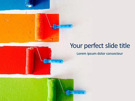 Multi-Colored Paint Rollers Presentation Presentation Template, Master Slide