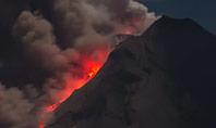 Volcano Eruption during Nighttime Presentation Presentation Template