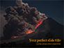 Volcano Eruption during Nighttime Presentation slide 1