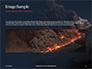 Volcano Eruption during Nighttime Presentation slide 10