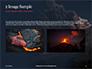 Volcano Eruption during Nighttime Presentation slide 11