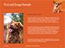 Cute Puppy Portrait on Orange Background Presentation slide 15