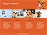 Cute Puppy Portrait on Orange Background Presentation slide 16