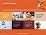 Cute Puppy Portrait on Orange Background Presentation slide 17