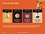 Cute Puppy Portrait on Orange Background Presentation slide 18