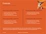 Cute Puppy Portrait on Orange Background Presentation slide 2