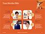 Cute Puppy Portrait on Orange Background Presentation slide 20