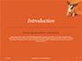 Cute Puppy Portrait on Orange Background Presentation slide 3