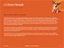 Cute Puppy Portrait on Orange Background Presentation slide 4