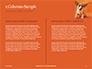 Cute Puppy Portrait on Orange Background Presentation slide 5