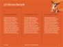 Cute Puppy Portrait on Orange Background Presentation slide 6