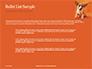Cute Puppy Portrait on Orange Background Presentation slide 7