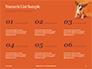 Cute Puppy Portrait on Orange Background Presentation slide 8