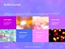 Blue and Purple Bokeh Lights Presentation slide 17