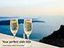 Two Prosecco Glasses Against a Sea Presentation slide 1