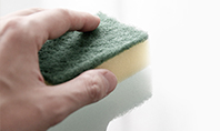 A Hand Holds Sponge and Cleans the Surface Presentation Presentation Template
