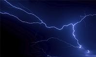 Dark Stormy Sky with Lightnings Presentation Presentation Template