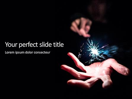 Person Holding Sparkler Presentation Presentation Template, Master Slide